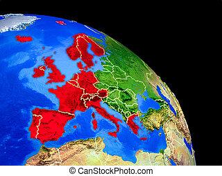 europe, planète, occidental, la terre