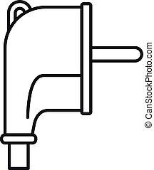 Europe plug icon, outline style
