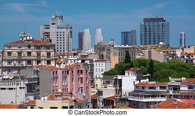 europe, prise vue large, ville, moderne, bureaux