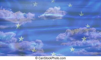 Europe Sky Flag