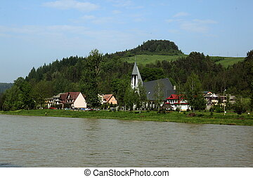 EUROPE SLOVAKIA TANTRA CERVENY KLASTOR - the landscape at...