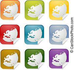 Europe square sticker