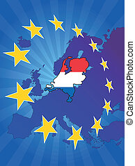 europe star netherlands - illustration of Netherlands map ...