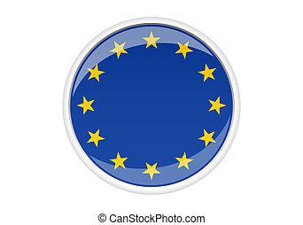 Europe Sticker - europe sticker/button for design