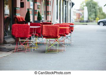 europe., strada, ristorante