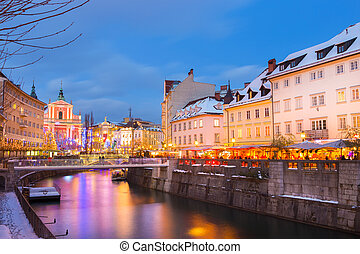 europe., time., クリスマス, スロベニア, ljubljana