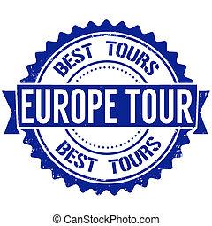 Europe tour stamp