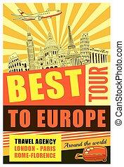 Europe Travel Poster