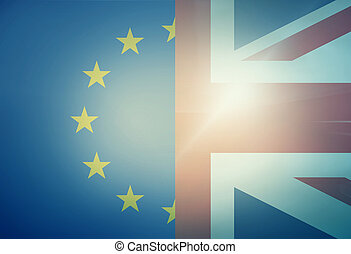 Europe United KIngdom Combined Flag