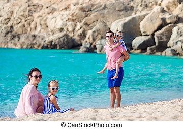 europe, vacances, famille, heureux