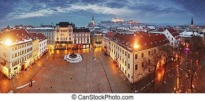 europe, ville, oriental, panorama, -, bratislava, slovaquie