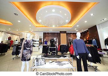 europeaan, de opslag van de kleding, met, reusachtig, verzameling