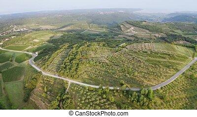 European aerial landscape - Aerial view on european ...