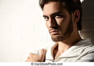 european beauty - Beauty portrait of a handsome pensive...