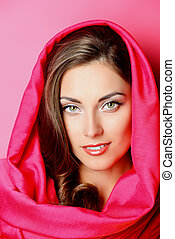 european beauty - Beauty portrait of a positive young woman...