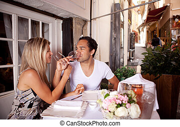 European Cafe Couple