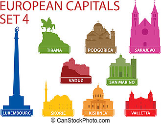 European capitals. Set 4. For you design