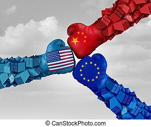 European China And American Trade Fight