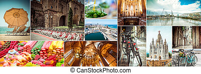 european cities - Collage of photos beautiful views of...