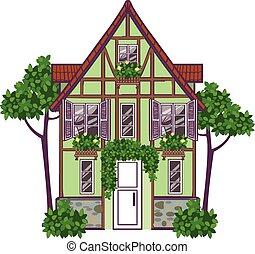 European city house. Vector illustration - Funny vector...