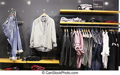 european clothing store with huge collection