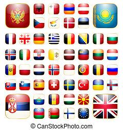 European continent app icon - Smartphone application icon ...