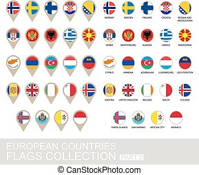 European Countries Flags Collection