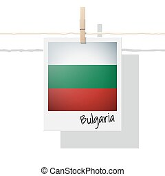 European country flag collection with photo of Bulgaria flag