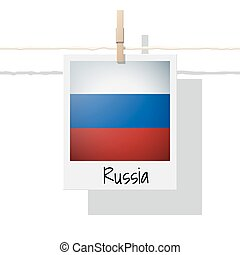European country flag collection with photo of Russia flag