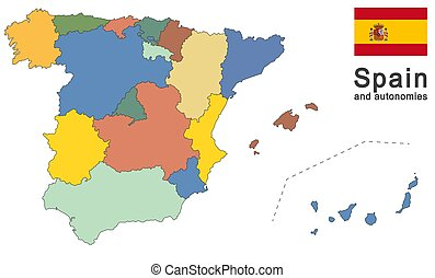 Spain and autonomies - european country Spain and autonomies...
