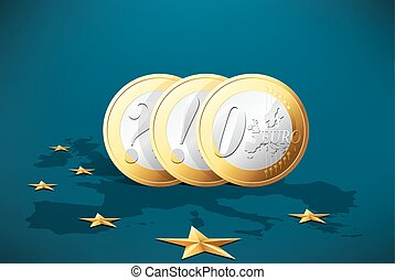 European crisis - currency symbol