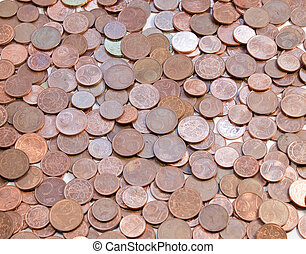 European currency, background coins