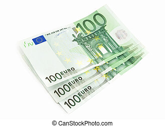 european currency isolated on a white background