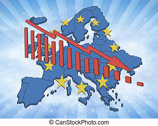 European Decline - Illustration of declining trends in the...