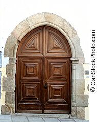 european doorway - wooden door