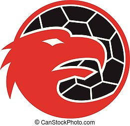 european-eagle-head-handball-ball-MASCOT