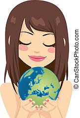 European Earth Woman