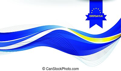 European flag background