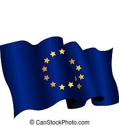 european flag - national flag of european