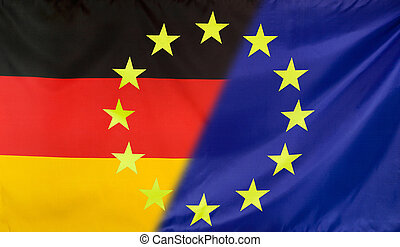 European Flag merged with Germany Flag - Germany and...