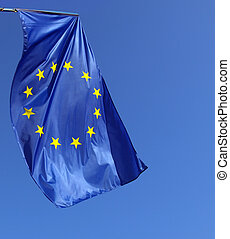 European flag - The European union flag of Europe (EU)