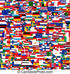 European flags - Collage of Flags of the European countries