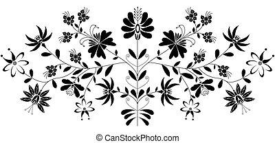 European folk floral pattern 2
