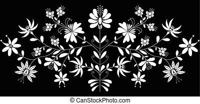 European folk floral pattern