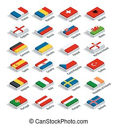 European football championship 2016 in France groups vector...