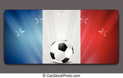 European Football Championship in France background