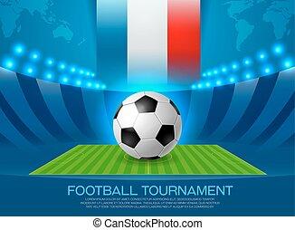 European football championship in France vector