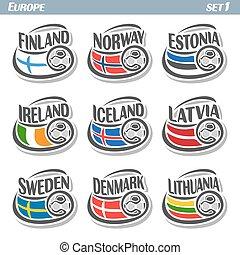 European football flags