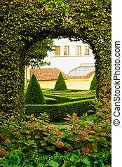 European garden detail