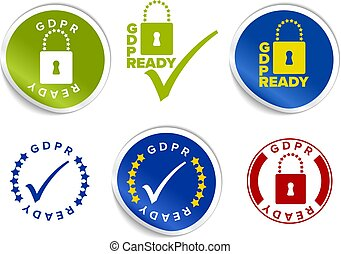 European GDPR ready label stamp tag template - European GDPR...